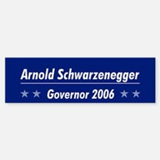Schwarzenegger 06 Bumper Car Car Sticker