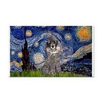 Starry Night / Poodle (s) Rectangle Car Magnet