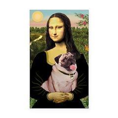 Mona's Fawn Pug (#2) Rectangle Car Magnet