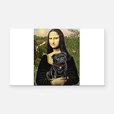 Mona's Black Pug Rectangle Car Magnet