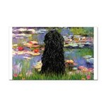 Water Lilies Rectangle Car Magnet