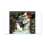 Ophelia / Rat Terrier Rectangle Car Magnet