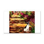 Path / Rat Terrier Rectangle Car Magnet
