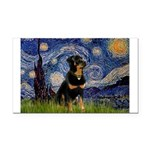 Starry Night Rottweiler Rectangle Car Magnet