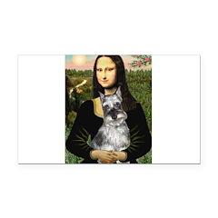 Mona Lisa's Schnauzer (#1) Rectangle Car Magnet