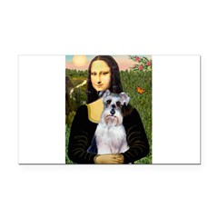 Mona Lisa/Schnauzer (#2) Rectangle Car Magnet