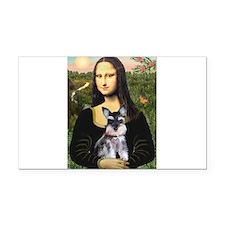 Mona Lisa's Schnauzer Puppy Rectangle Car Magnet