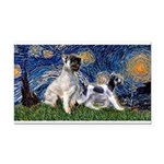 Starry Night / Min Schnauzer Rectangle Car Magnet