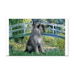 Lily Pond Bridge/Giant Schnau Rectangle Car Magnet