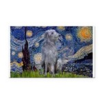 Starry /Scot Deerhound Rectangle Car Magnet