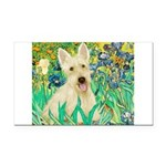 Irises / Scottie (w) Rectangle Car Magnet