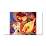 Mandolin / Scottie (w) Rectangle Car Magnet