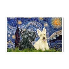 Starry /Scotty pair Rectangle Car Magnet