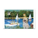 Bassin/Shih Tzu (P) Rectangle Car Magnet