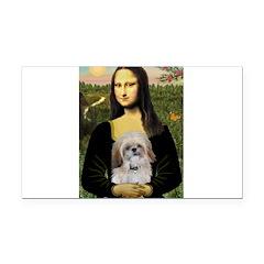 Mona Lisa/Shih Tzu (P) Rectangle Car Magnet