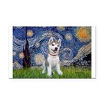 Starry-Siberian pup Rectangle Car Magnet