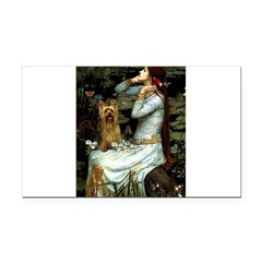 Ophelia / Silky T Rectangle Car Magnet