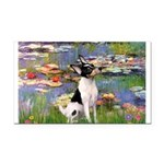 Lilies / Toy Fox T Rectangle Car Magnet