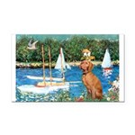 Sailboats / Vizsla Rectangle Car Magnet