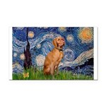 Starry Night / Vizsla Rectangle Car Magnet