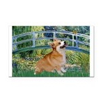 Bridge / Corgi Rectangle Car Magnet