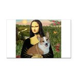 Mona - Corgi (Pembr-L) Rectangle Car Magnet