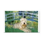 Bridge & Wheaten Rectangle Car Magnet