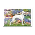 Lilies & Whippet Rectangle Car Magnet