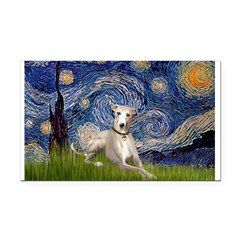 Starry Night Whippet Rectangle Car Magnet