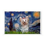 Starry Night Yorkie (T) Rectangle Car Magnet