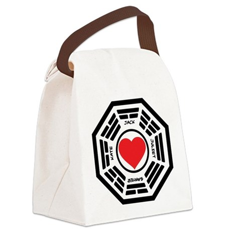 LOST Love Square Canvas Lunch Bag
