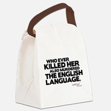 Murdered the English Language Canvas Lunch Bag