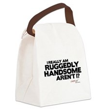 Ruggedly Handsome Canvas Lunch Bag