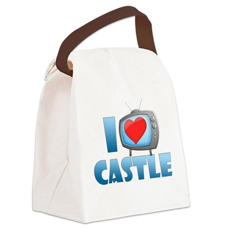 I Heart Castle Canvas Lunch Bag