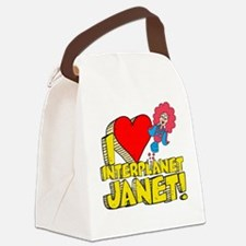 I Heart Interplanet Janet! Canvas Lunch Bag