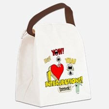 I Heart Interjections Canvas Lunch Bag
