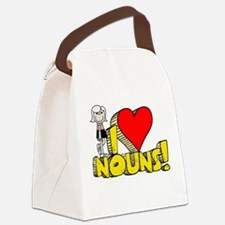 I Heart Nouns Canvas Lunch Bag