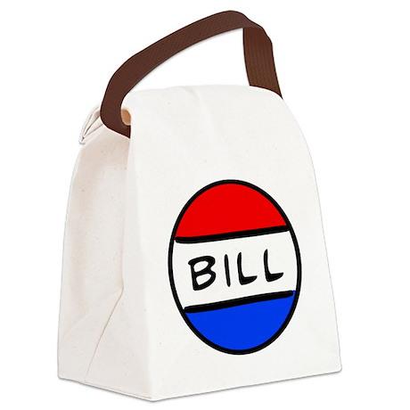 Bill Button Canvas Lunch Bag