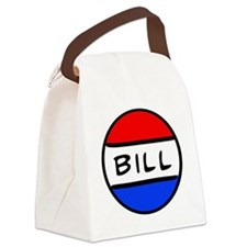 Bill Button Canvas Lunch Bag