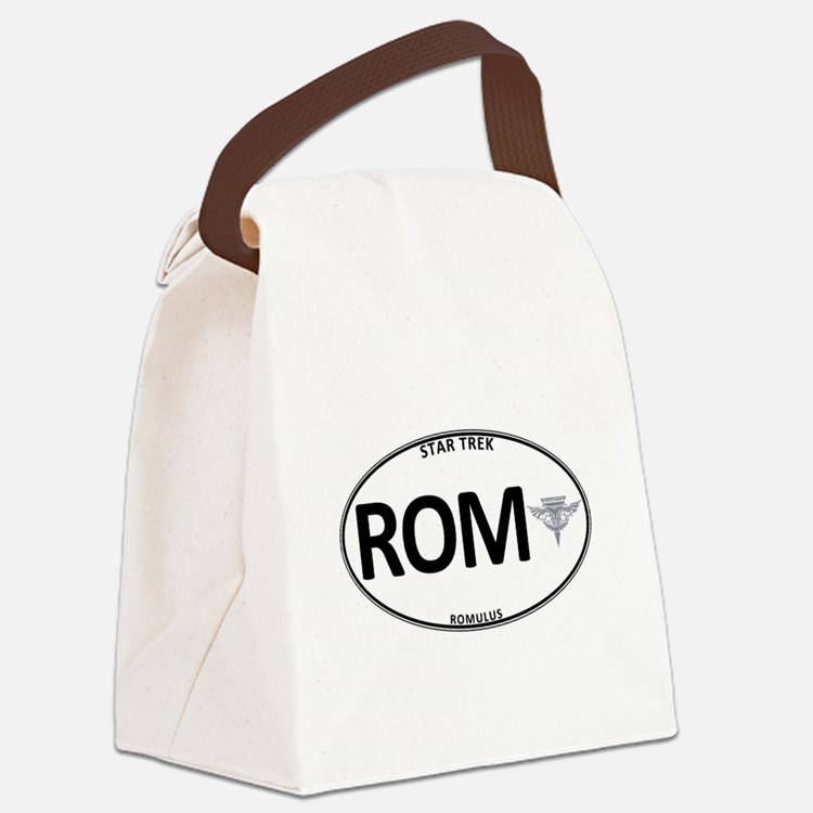 Romulus White Oval Canvas Lunch Bag