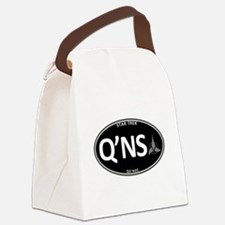 Qo'noS Black Oval Canvas Lunch Bag