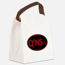 Qo'noS Red Oval Canvas Lunch Bag