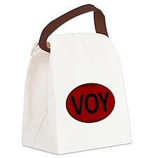 Star Trek: VOY Red Oval Canvas Lunch Bag