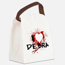 I Heart Debra Canvas Lunch Bag