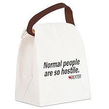 Normal people... - Dexter Canvas Lunch Bag