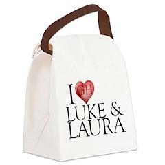 I Heart Luke & Laura Canvas Lunch Bag