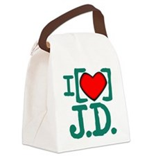 I Heart J.D. Canvas Lunch Bag