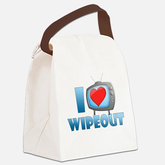 I Heart Wipeout Canvas Lunch Bag