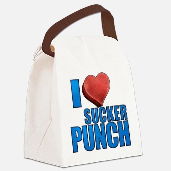 I Heart Sucker Punch Canvas Lunch Bag