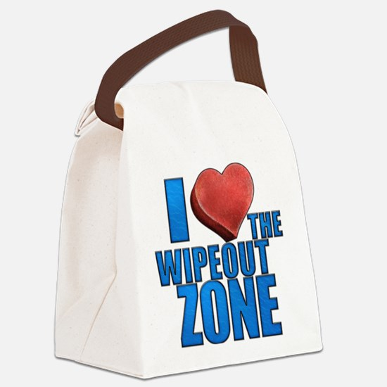 I Heart the Wipeout Zone Canvas Lunch Bag